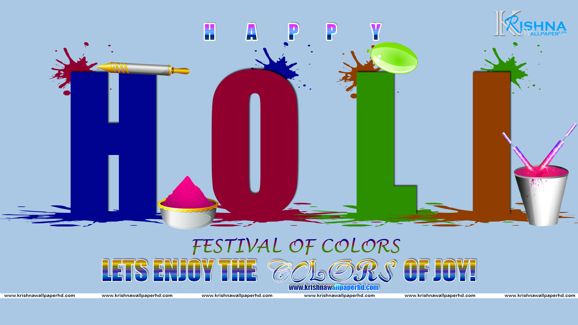 Wallpaper of Holi in HD