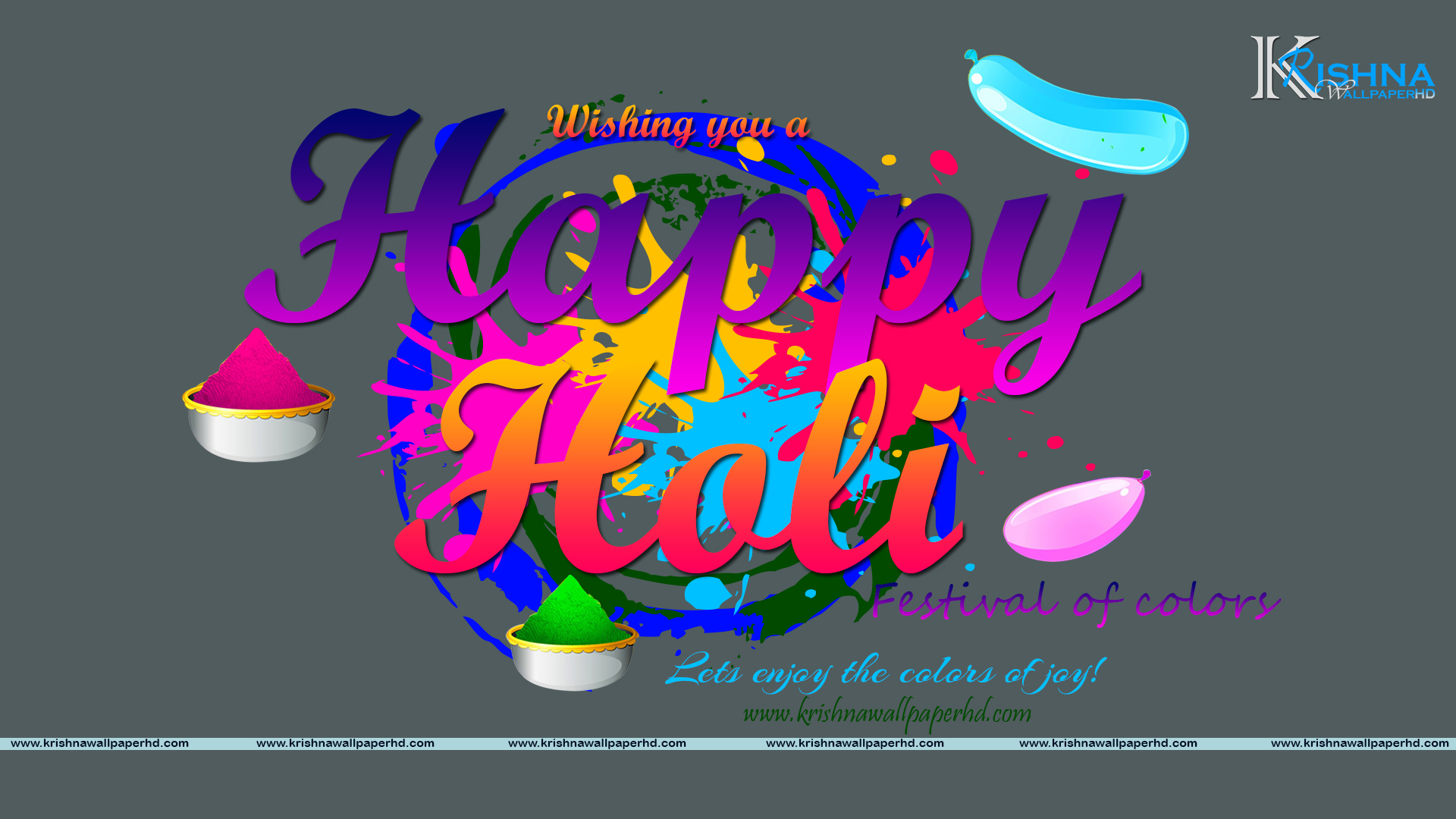 Happy Holi Wallpaper 2018