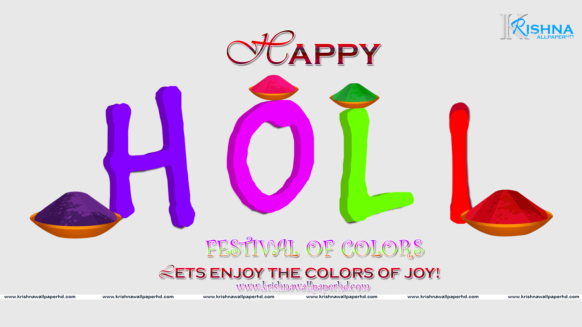 Happy Holi 2018 Wallpaper HD Download