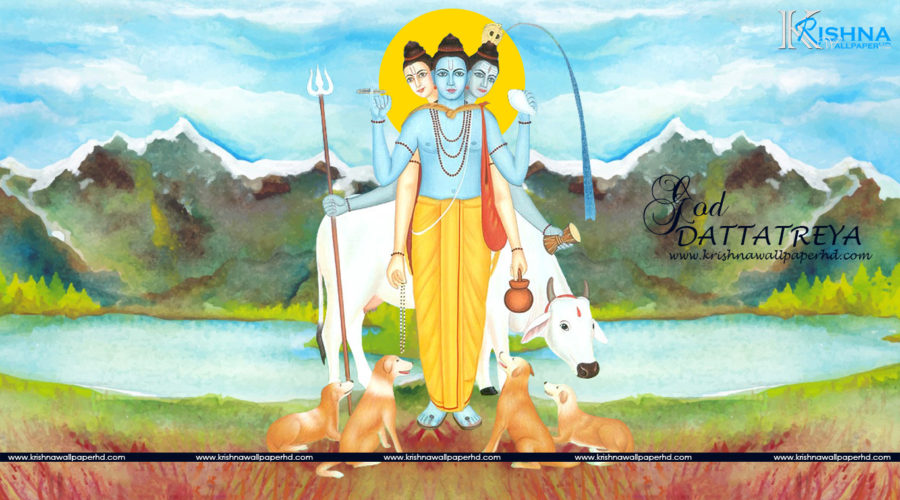 God Dattatreya HD Wallpaper Free Download