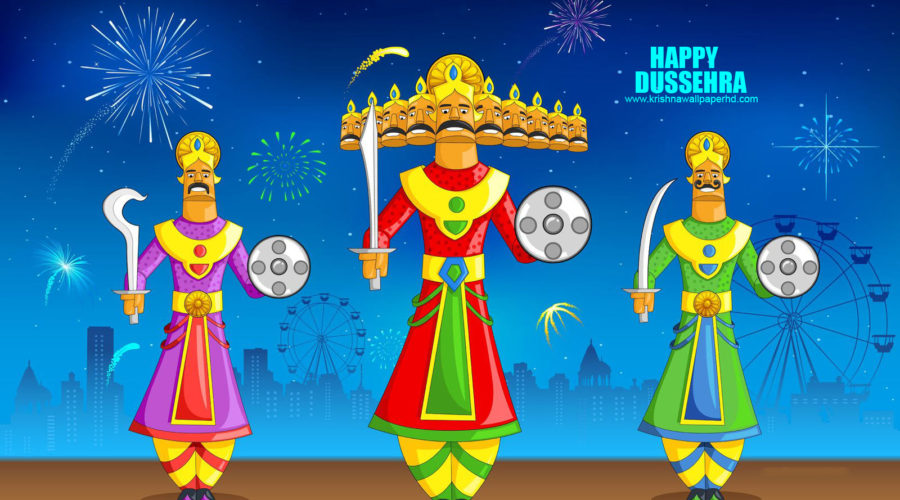 Free Download Happy Dussehra HD Wallpaper