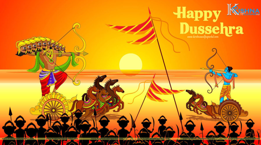 Happy Dussehra Full HD Wallpaper