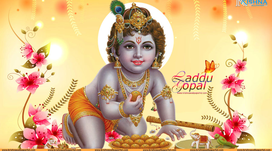 Free Download Laddu Gopal HD Wallpaper
