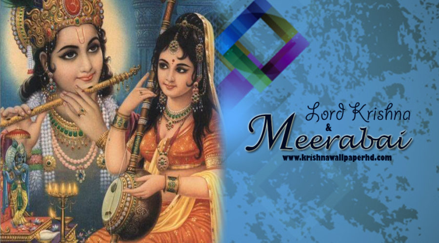 Lord Krishna and Meerabai Photo