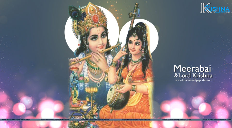 Meerabai and Lord Krishna Full HD Size Wallpaper Free Download