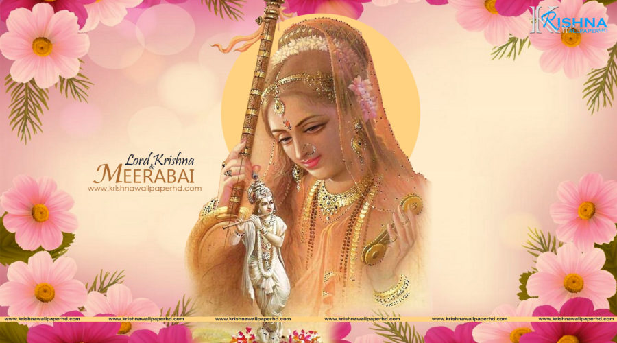 Free Download Lord Krishna and Meerabai Full HD Size Wallpaper