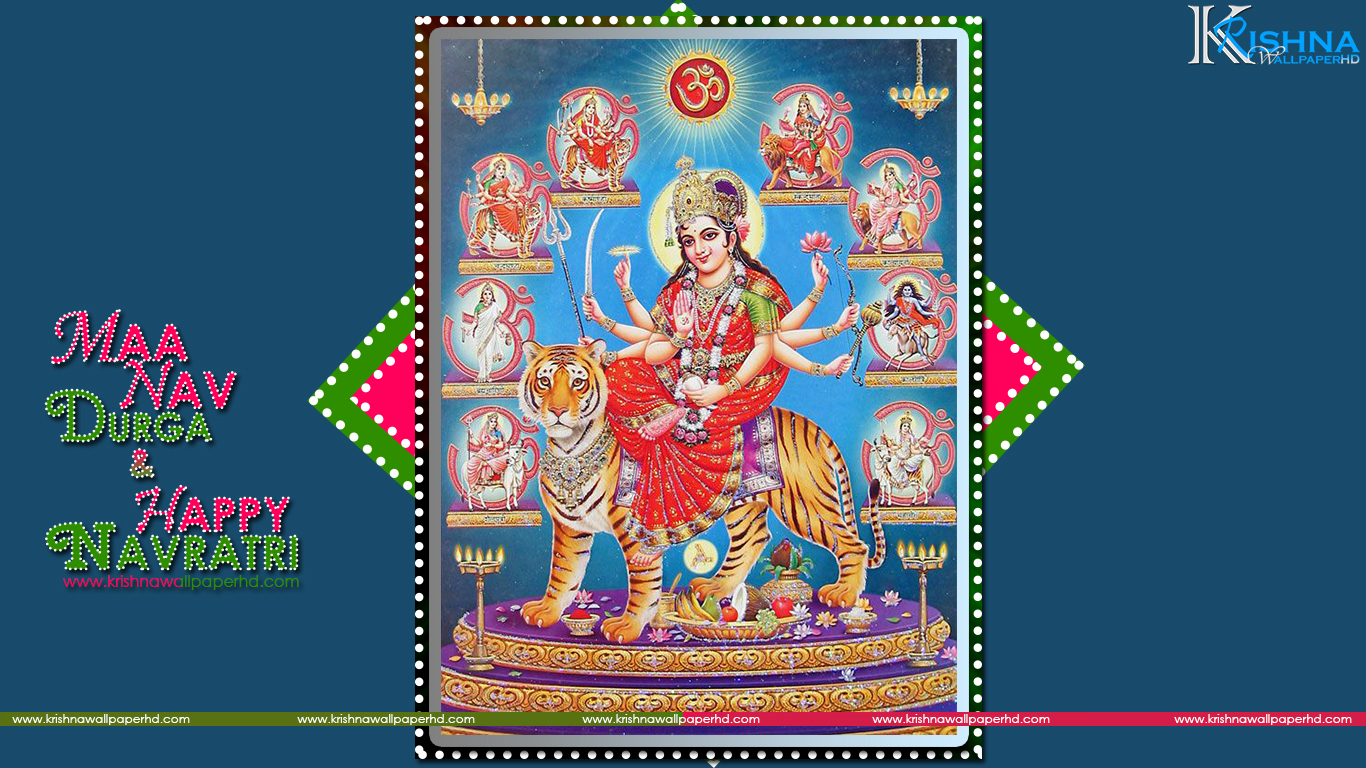 Free Download Maa Nav Durga and Happy Navratri Photo