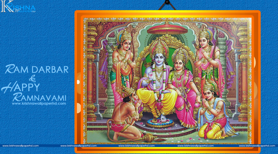 Ram Darbar and Happy Ramnavami Wallpaper