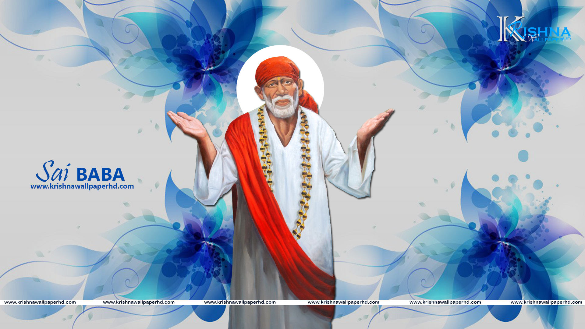 Free Download Sai Baba Full HD Size Wallpaper