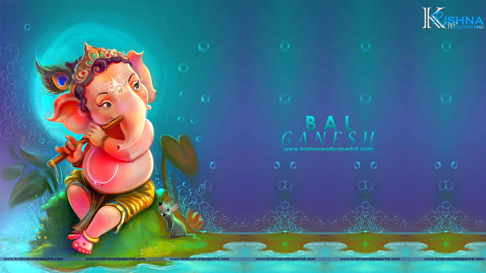Bal Ganesh Full HD Size Wallpaper Free Download