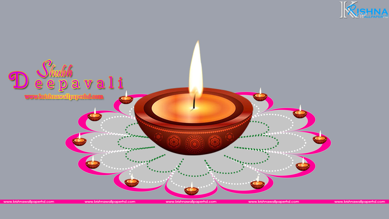 Shubh Deepavali Diya HD Wallpaper Free Download