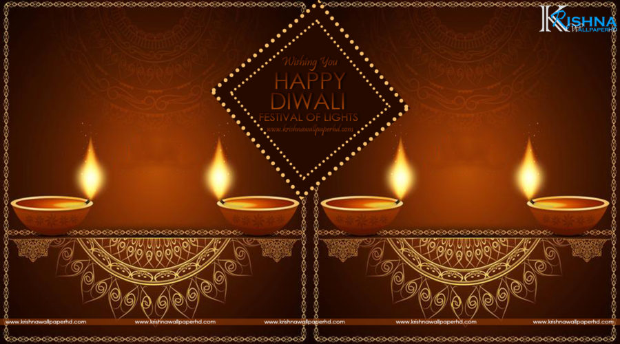 Happy Diwali Beautiful Greeting Wallpaper Free Download