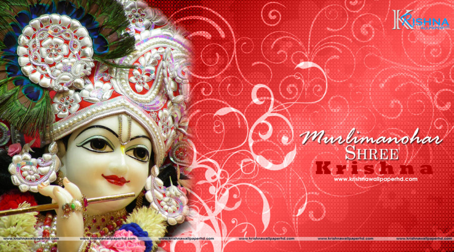 Free Download Murlimanohar Shree Krishna Full Hd Size Wallpaper