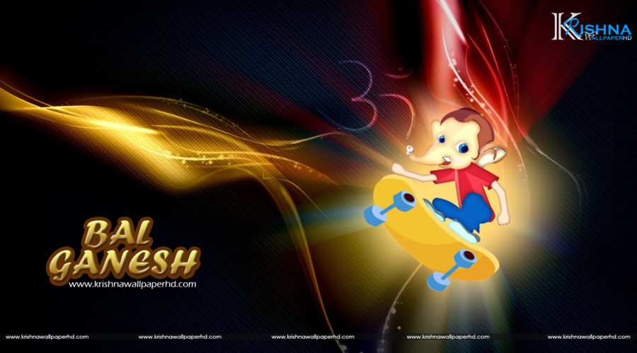 Bal Ganesh Cartoon HD Wallpaper Free Download
