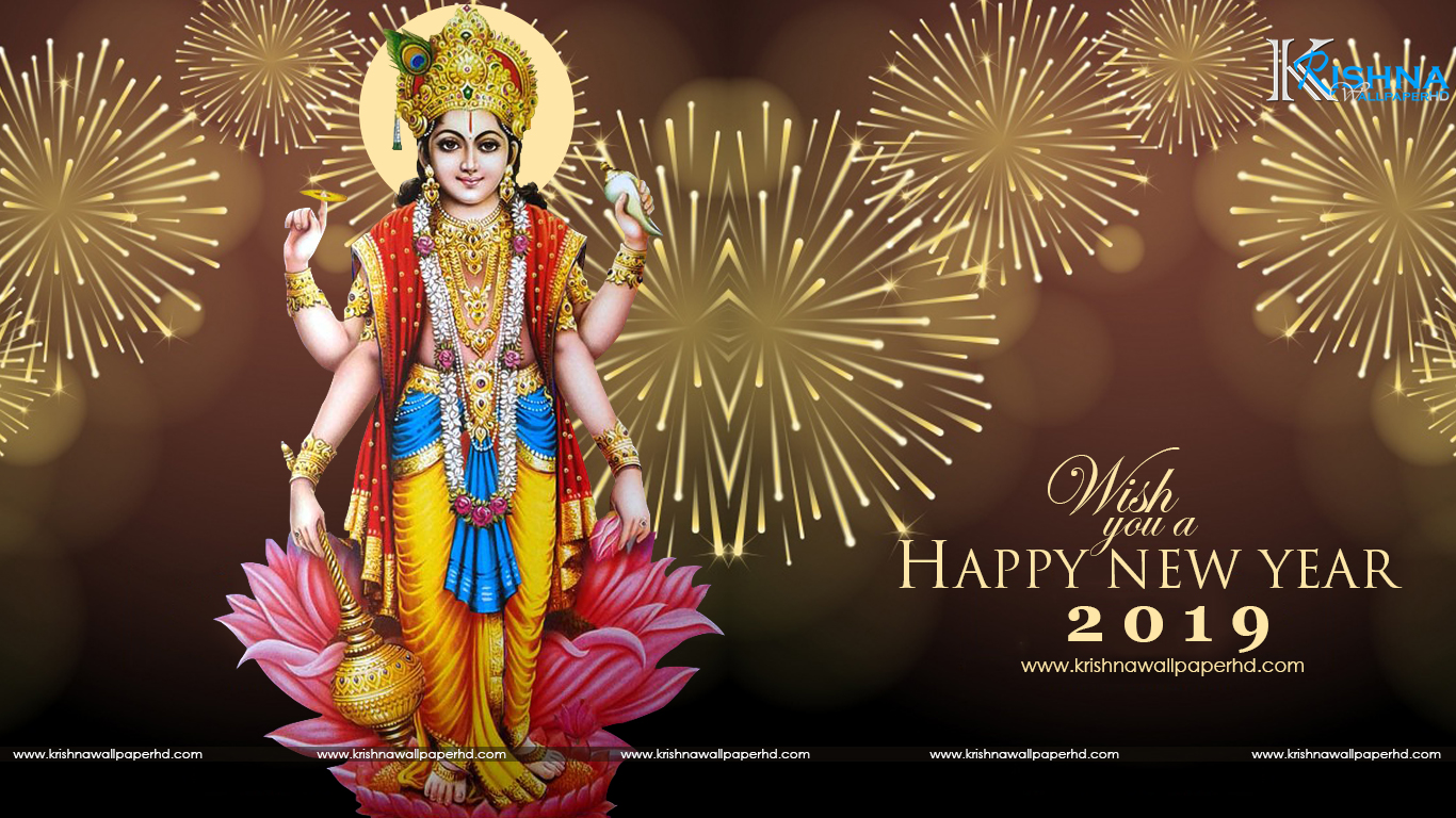 HD Happy New Year 2019 Background Free Download