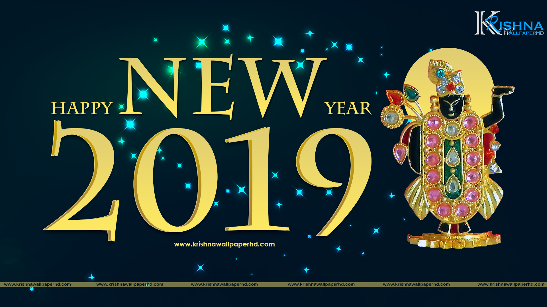 Free Download Happy New Year 2019 Full HD Size Wallpaper