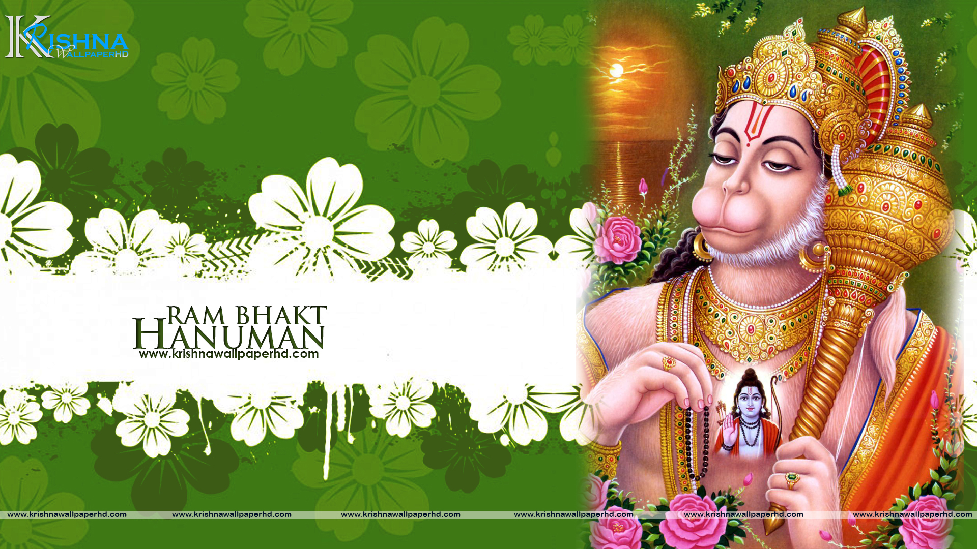 Wallpaper of Lord Hanuman in Full HD Free Download