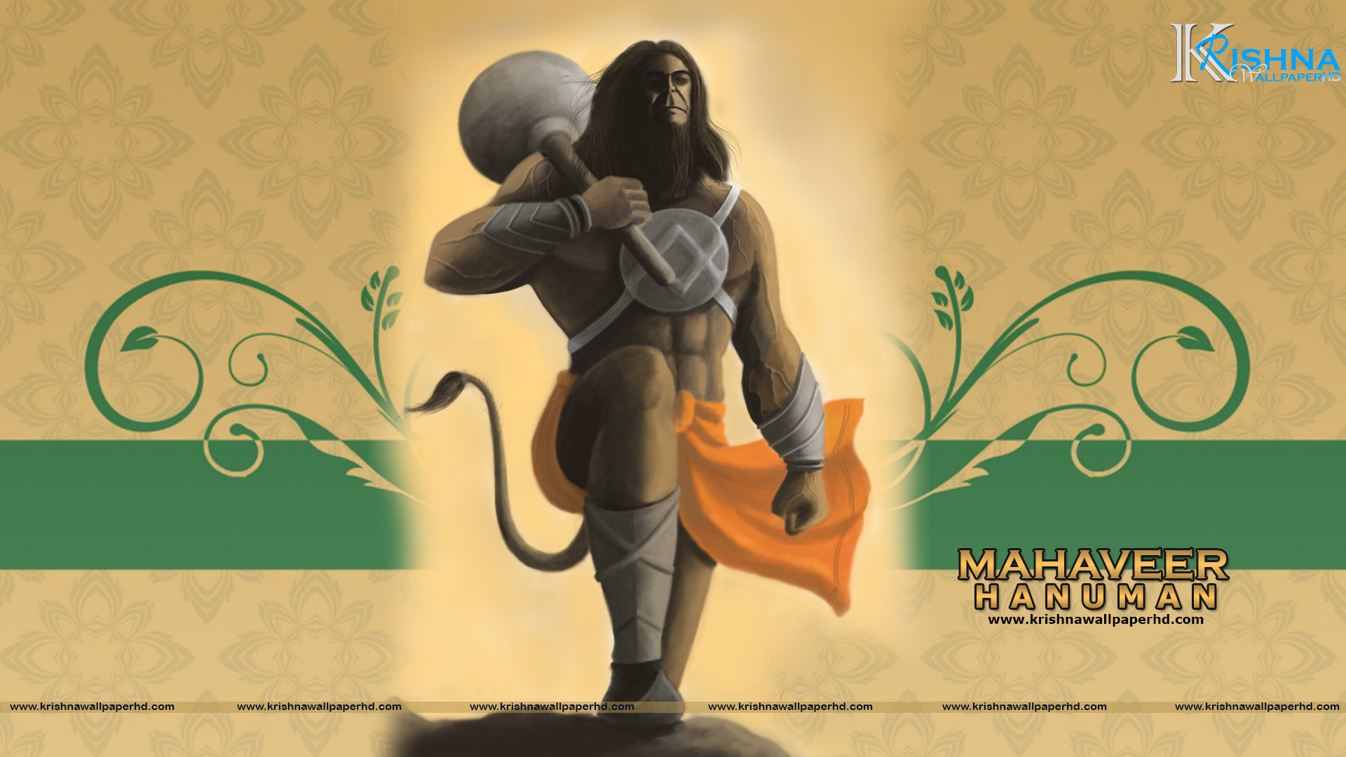 Wallpaper of Mahaveer Hanuman in Full HD Size Free Download