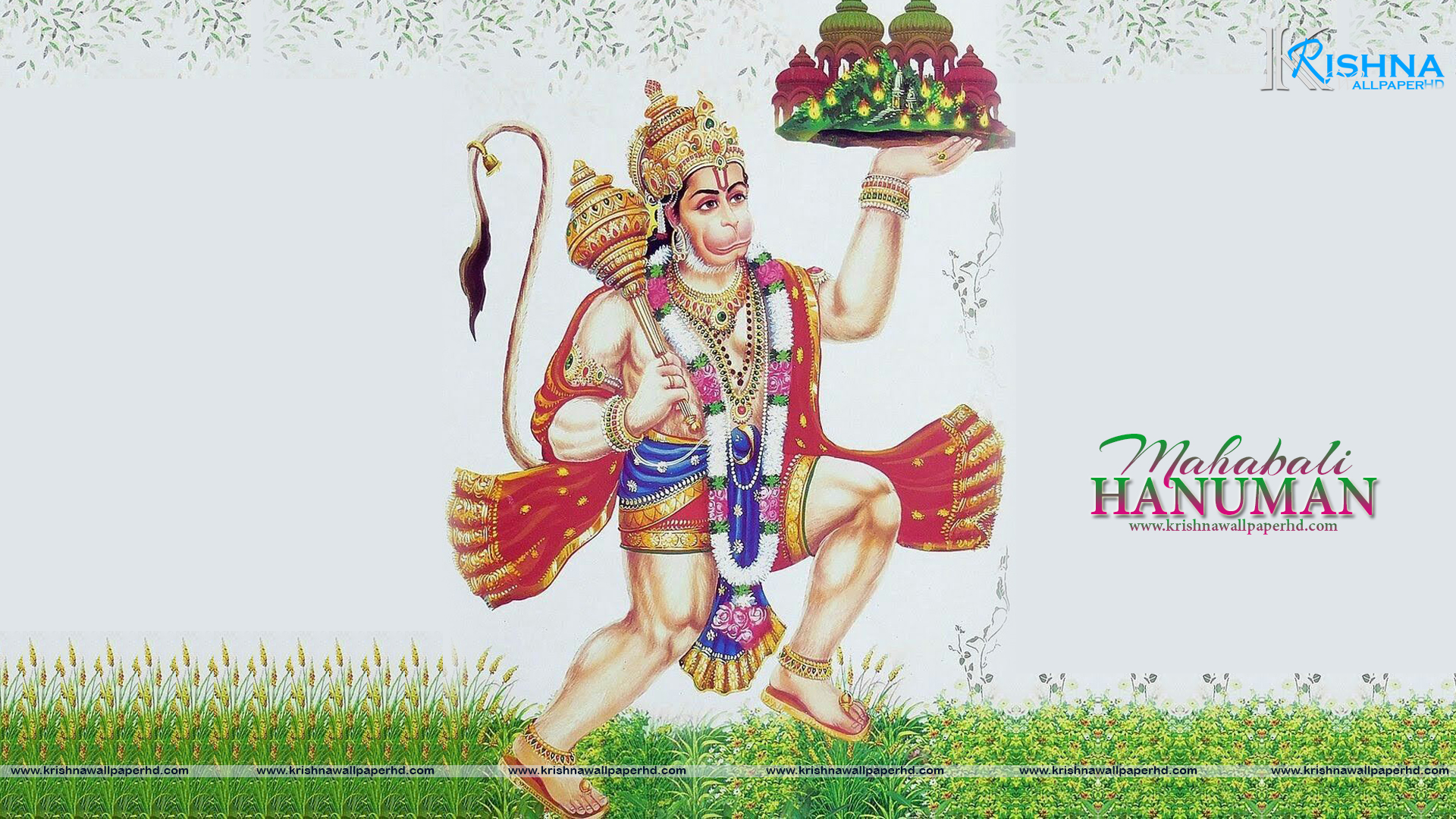Wallpaper of Mahabali Hanuman in Full HD Size Free Download