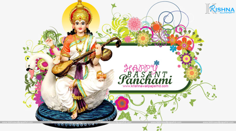 Free Download Happy Basant Panchami HD Wallpaper
