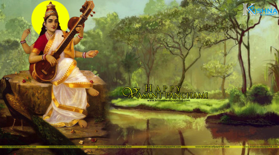 Free Download Happy Vasant Panchami Full HD Size Wallpaper