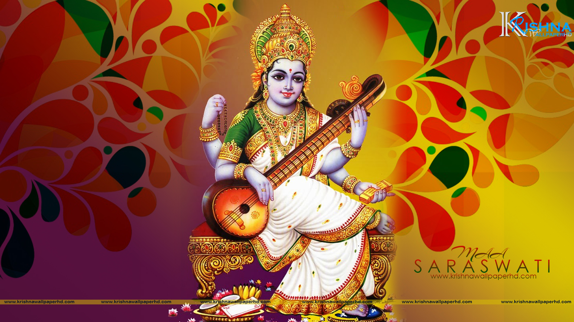 Maa Saraswati HD Wallpaper Free Download