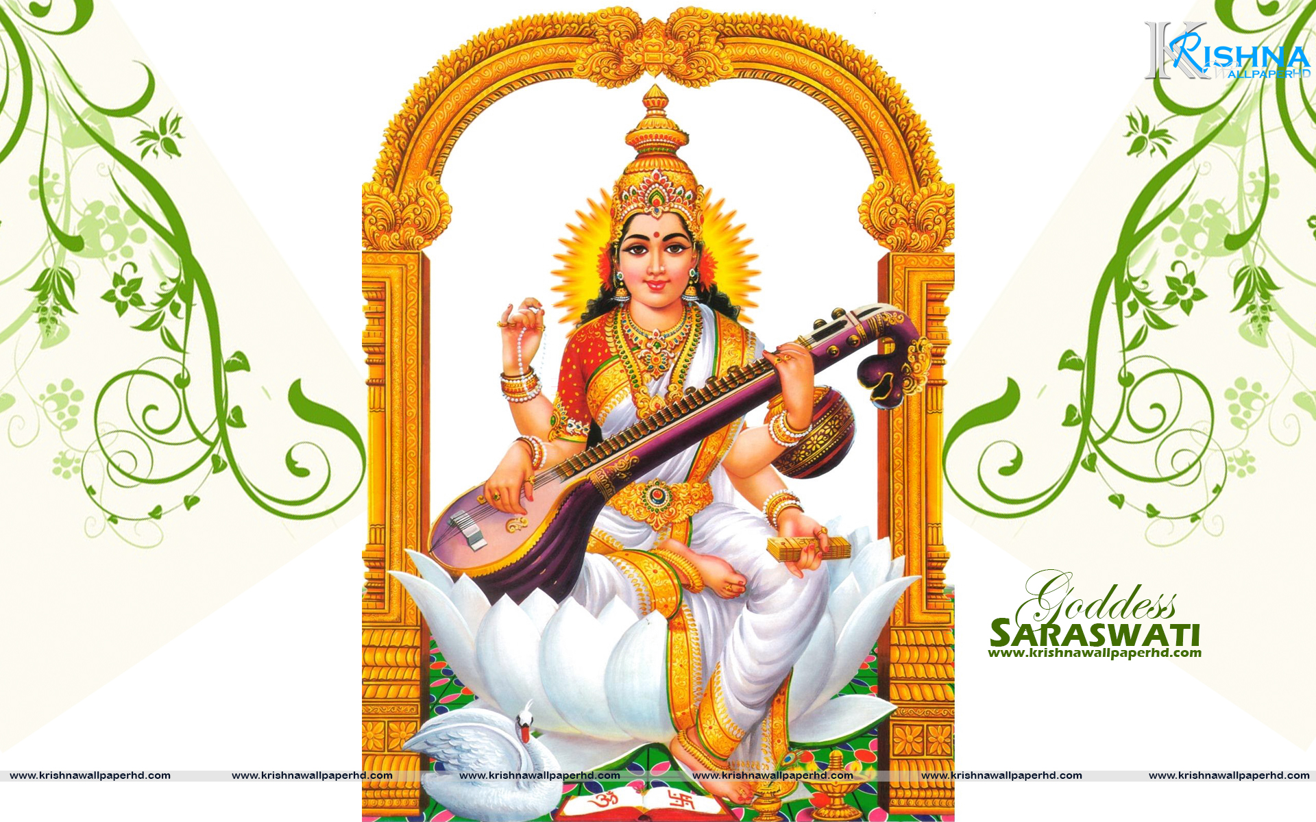 Goddess Saraswati Wallpaper in Full HD Size Free Download