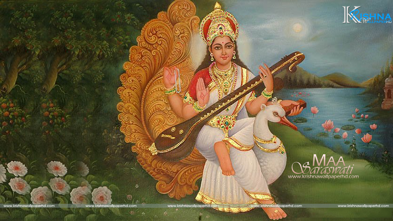 Maa Saraswati Wallpaper