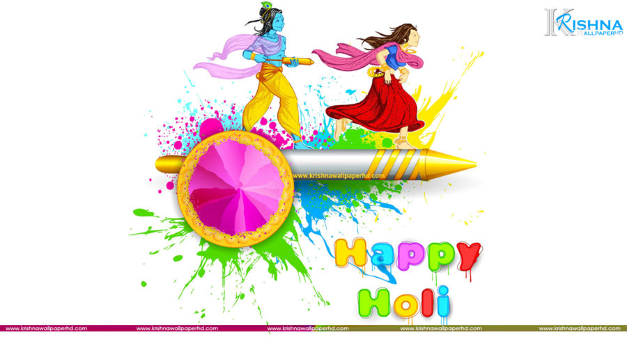 Free Download Radha Krishna Holi Wallpaper