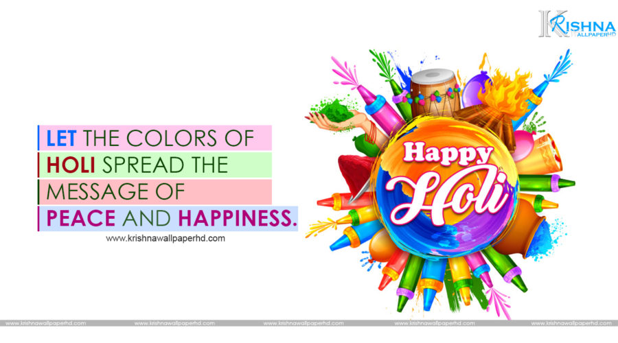 Happy Holi HD Wallpaper with Quotes Free Download