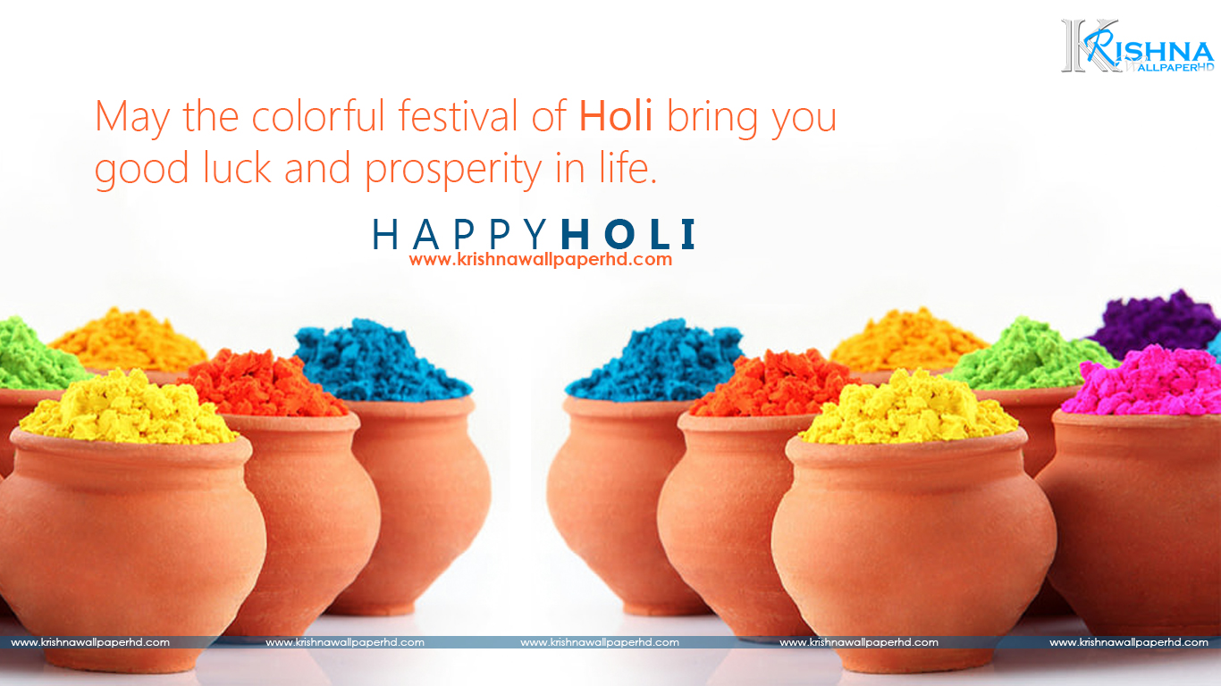 Holi Wishes Wallpaper in HD Free Download