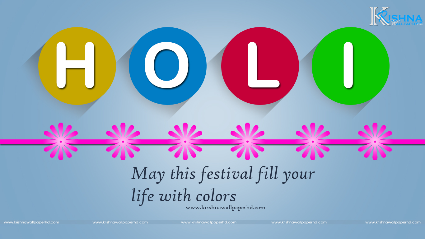 Holi Greeting HD Wallpaper Free Download