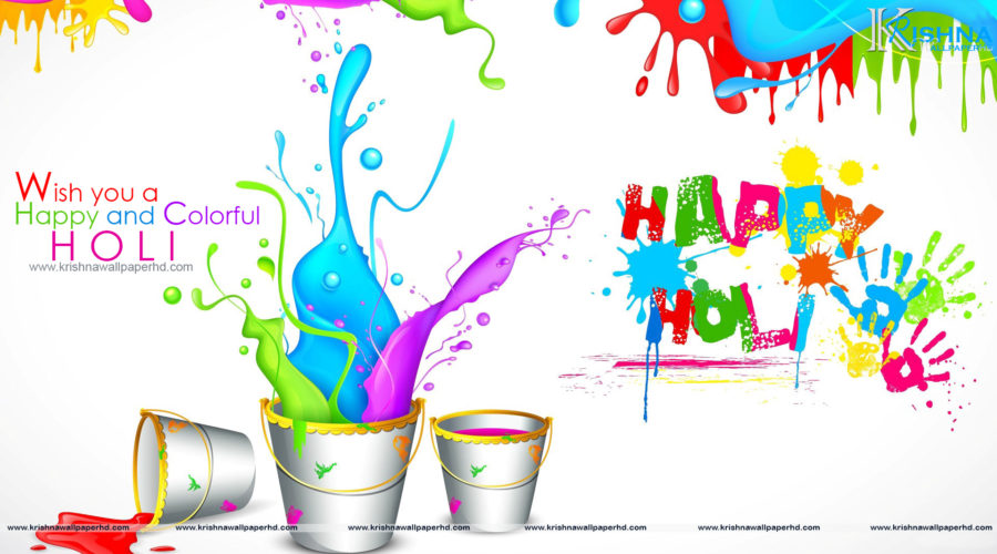Holi Wishes Wallpaper in Full HD Size Free Download
