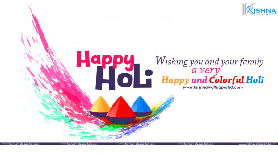 Happy Holi Greeting HD Wallpaper Free Download