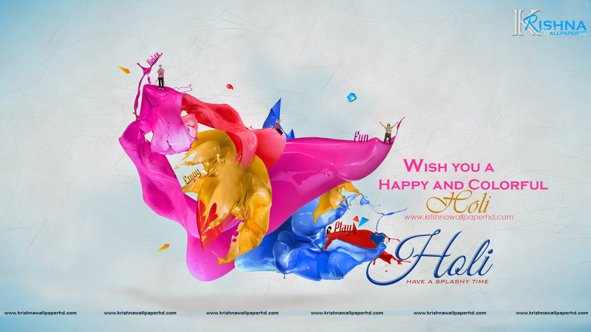 Free Download Holi Wishes Wallpaper in Full HD Size