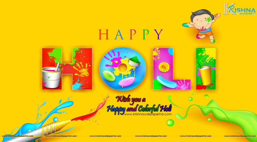 Happy Holi Wallpaper in Full HD Size Free Download