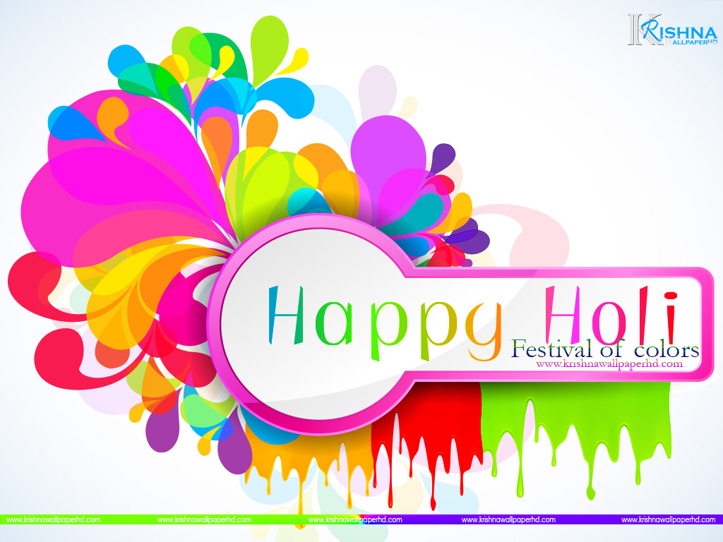 Happy Holi Greeting Wallpaper Free Download