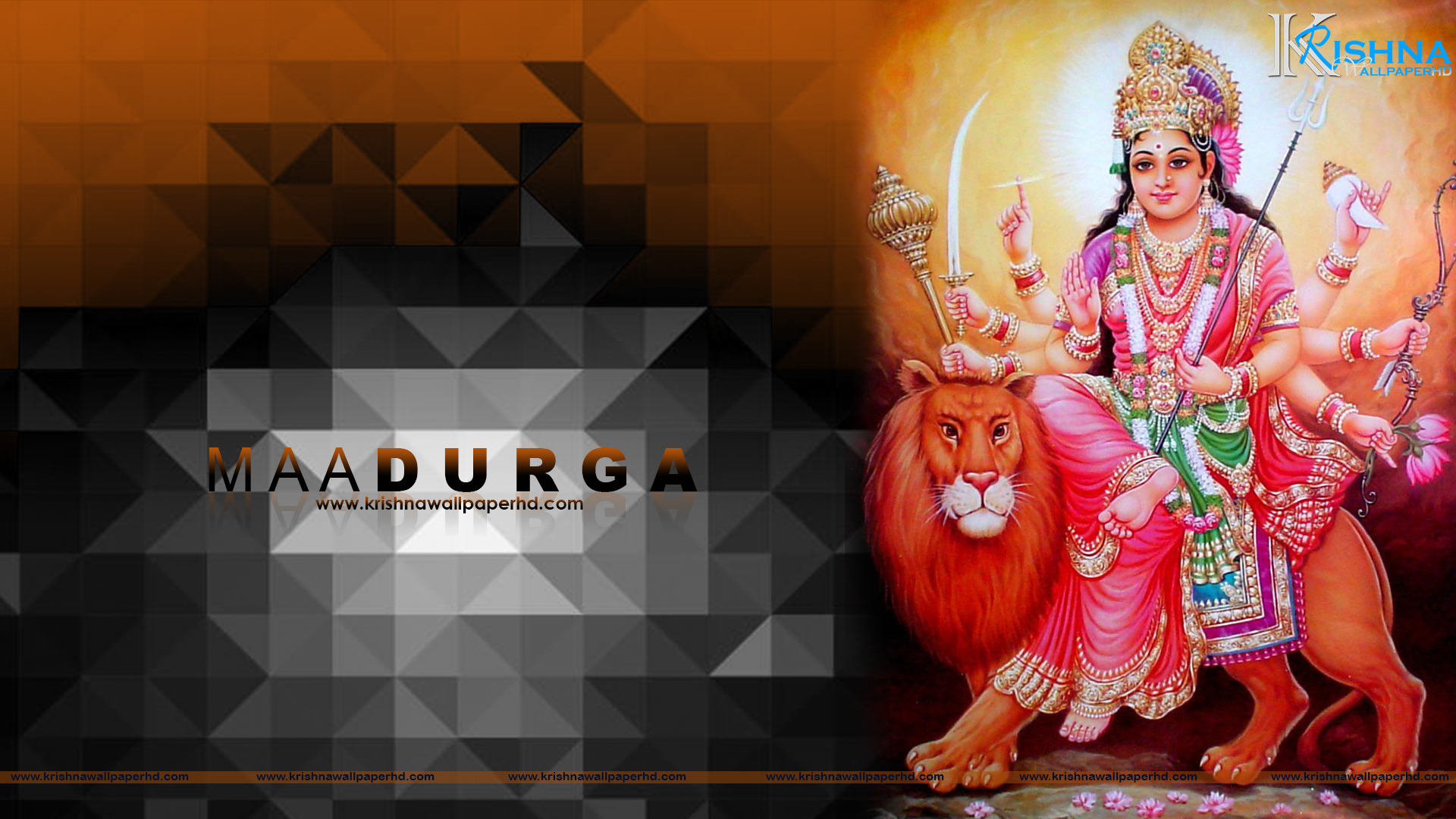 Maa Durga HD Wallpaper 1920x1080